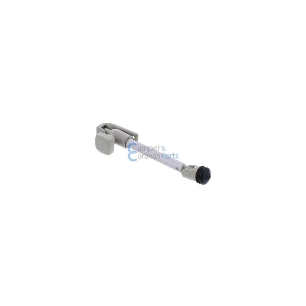 Polyplastic 100 Serie | Raamuitzetters buis grijs incl. 1-gats montage -