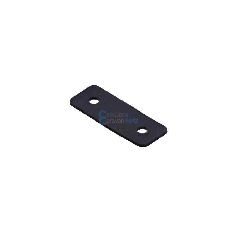 Polyplastic rubber montageplaatje zwart - 1 mm - 40 mm - Ø 26 mm -