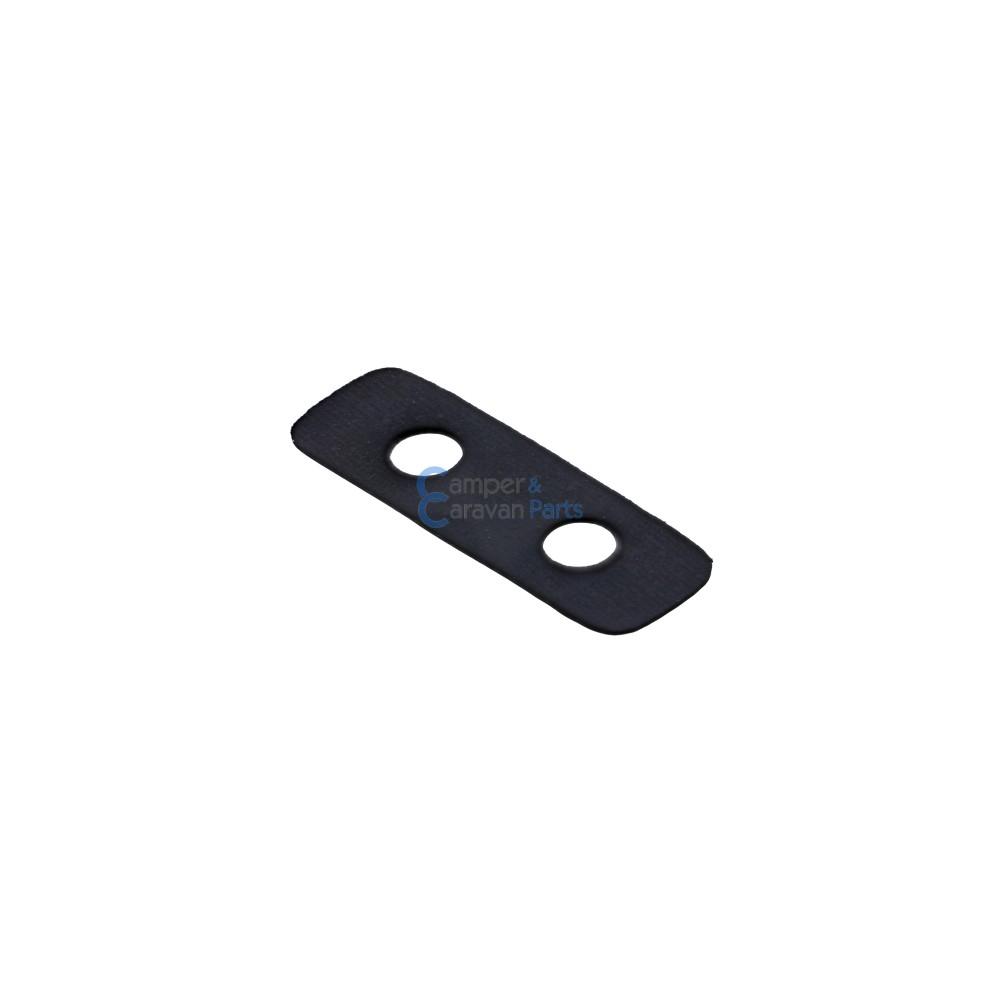 Polyplastic rubber montageplaatje zwart - 0,5 mm - 44 mm - Ø 20 mm -