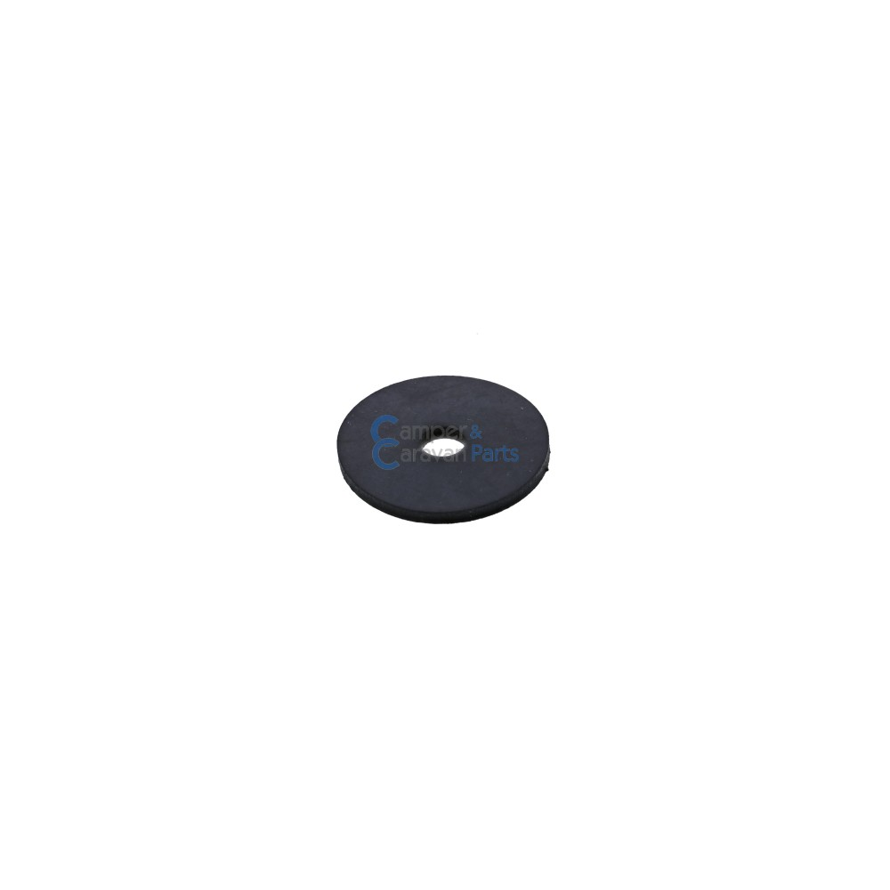 Polyplastic rubber montageplaatje rond - 22 mm - Ø 11 mm -