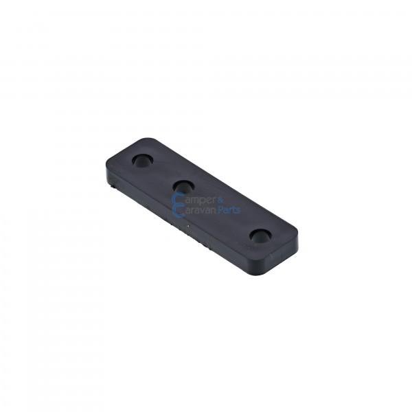 Polyplastic opvulplaatje zwart - 4 mm - 50 mm - Ø 38 mm -
