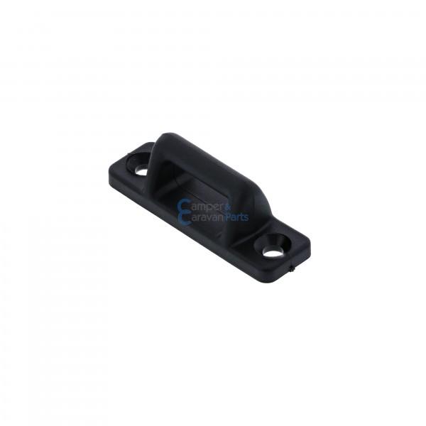 Polyplastic rekstokje voor overtrek grendel zwart - 18 mm - 50 mm - Ø 39 mm -