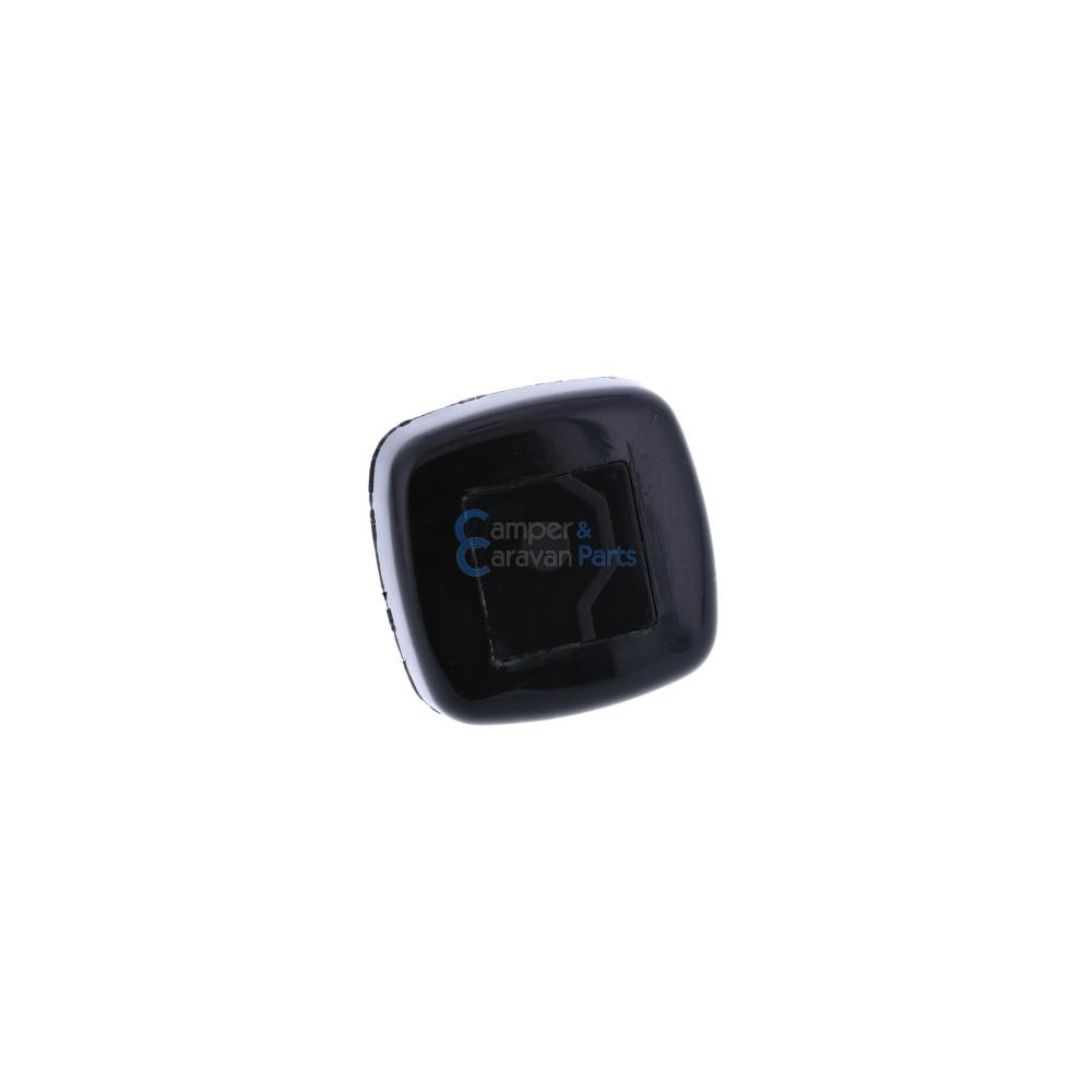 Polyplastic vastzetknop voor buis raamuitzetter zwart -