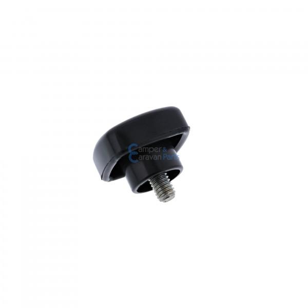 Polyplastic vastzetknop voor raamuitzetter buis zwart