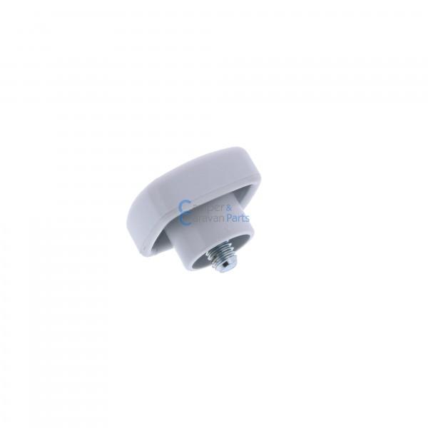 Polyplastic vastzetknop voor raamuitzetter buis grijs