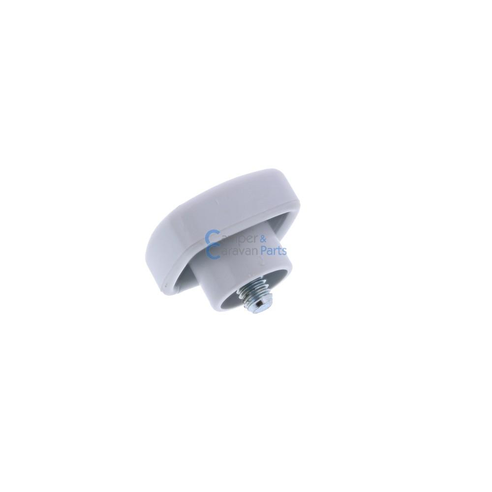 Polyplastic vastzetknop voor buis raamuitzetter grijs -