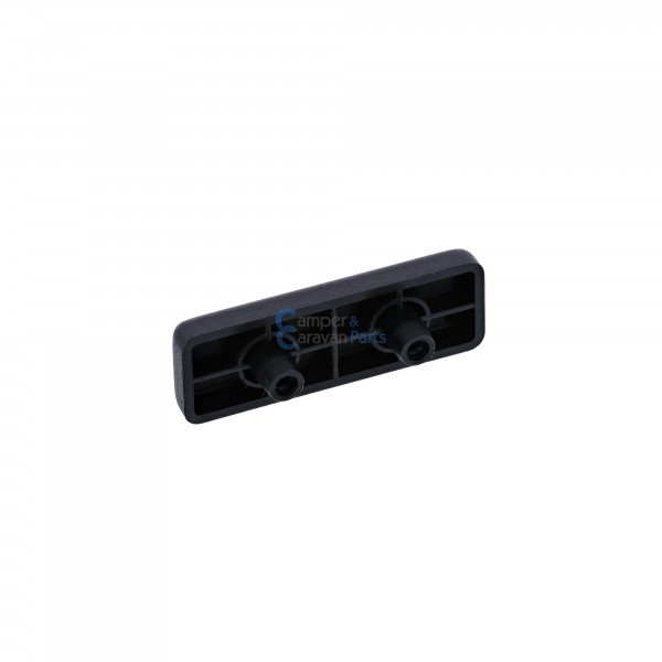 Polyplastic buitenplaatje ''300 Serie'' met plat dakje zwart