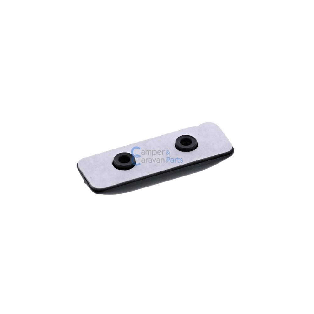 Polyplastic buitenkapje zwart - 5 mm - 45 mm - Ø 20 mm -