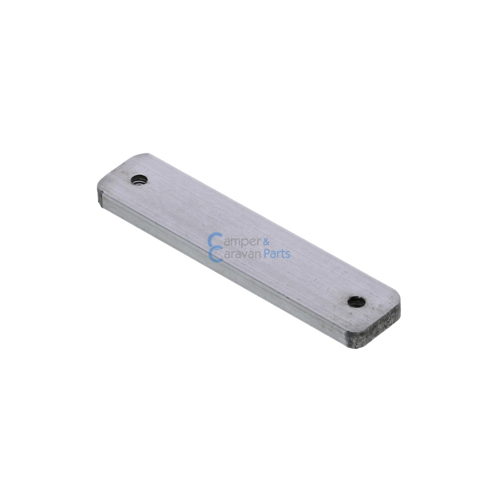 Polyplastic opvulplaatje aluminium - 4 mm - 65 mm - Ø 53 mm -