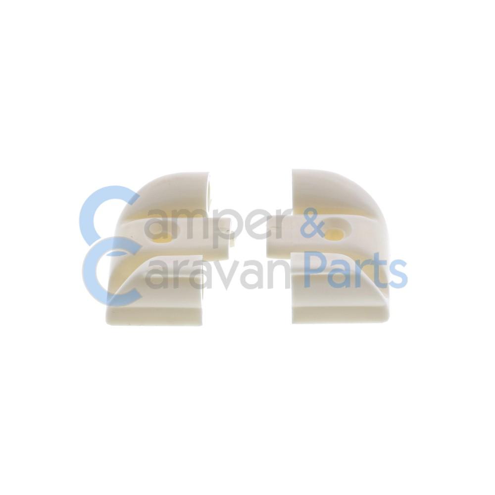 Polyplastic eindkapjes schuiflijst (met markieslijst) wit -