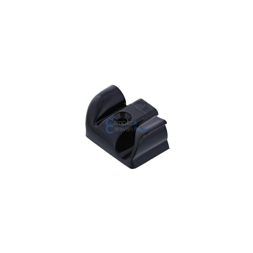 Polyplastic eindkapjes schuiflijst (met markieslijst) zwart -