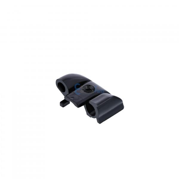 Polyplastic eindkapjes schuiflijst (met markieslijst) zwart