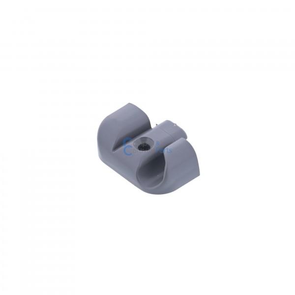 Polyplastic eindkapjes inhaaklijst (met markieslijst) grijs