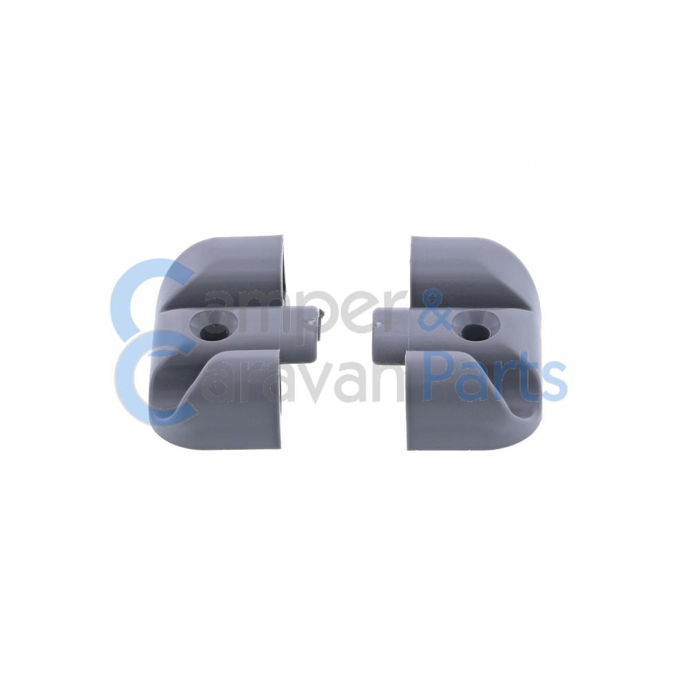 Polyplastic eindkapjes inhaaklijst (met markieslijst) grijs -