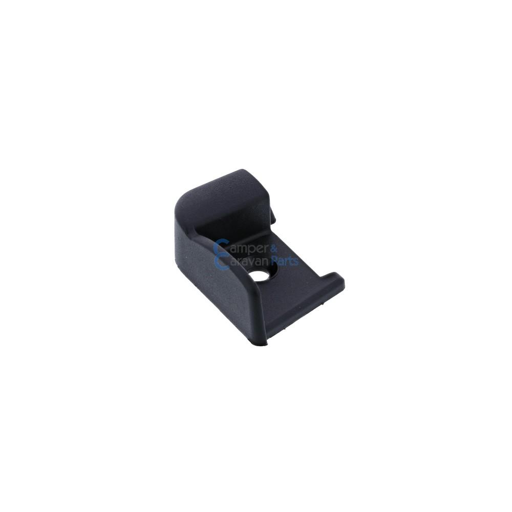 Polyplastic eindkapjes inhaaklijst (zonder markieslijst) zwart -