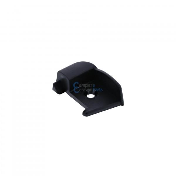 Polyplastic eindkapjes inhaaklijst (zonder markieslijst) zwart