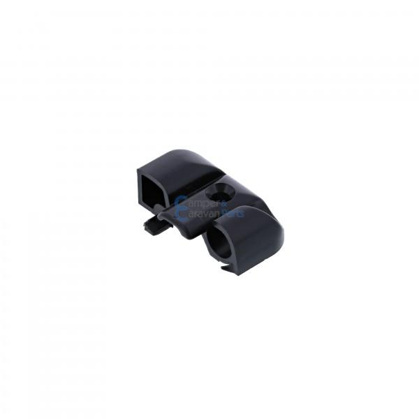 Polyplastic eindkapjes inhaaklijst (met markieslijst) zwart