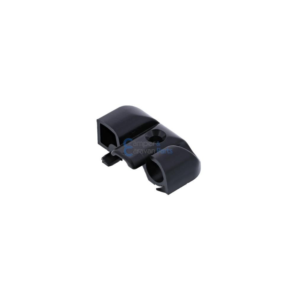 Polyplastic eindkapjes inhaaklijst (met markieslijst) zwart -
