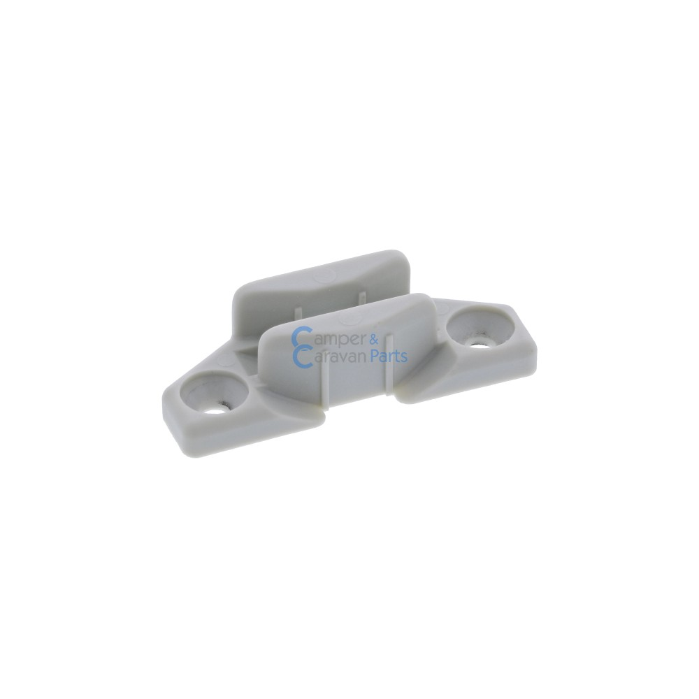 Polyplastic slotplaatje grijs - 12,4 mm - 50 mm - Ø 37,4 mm -