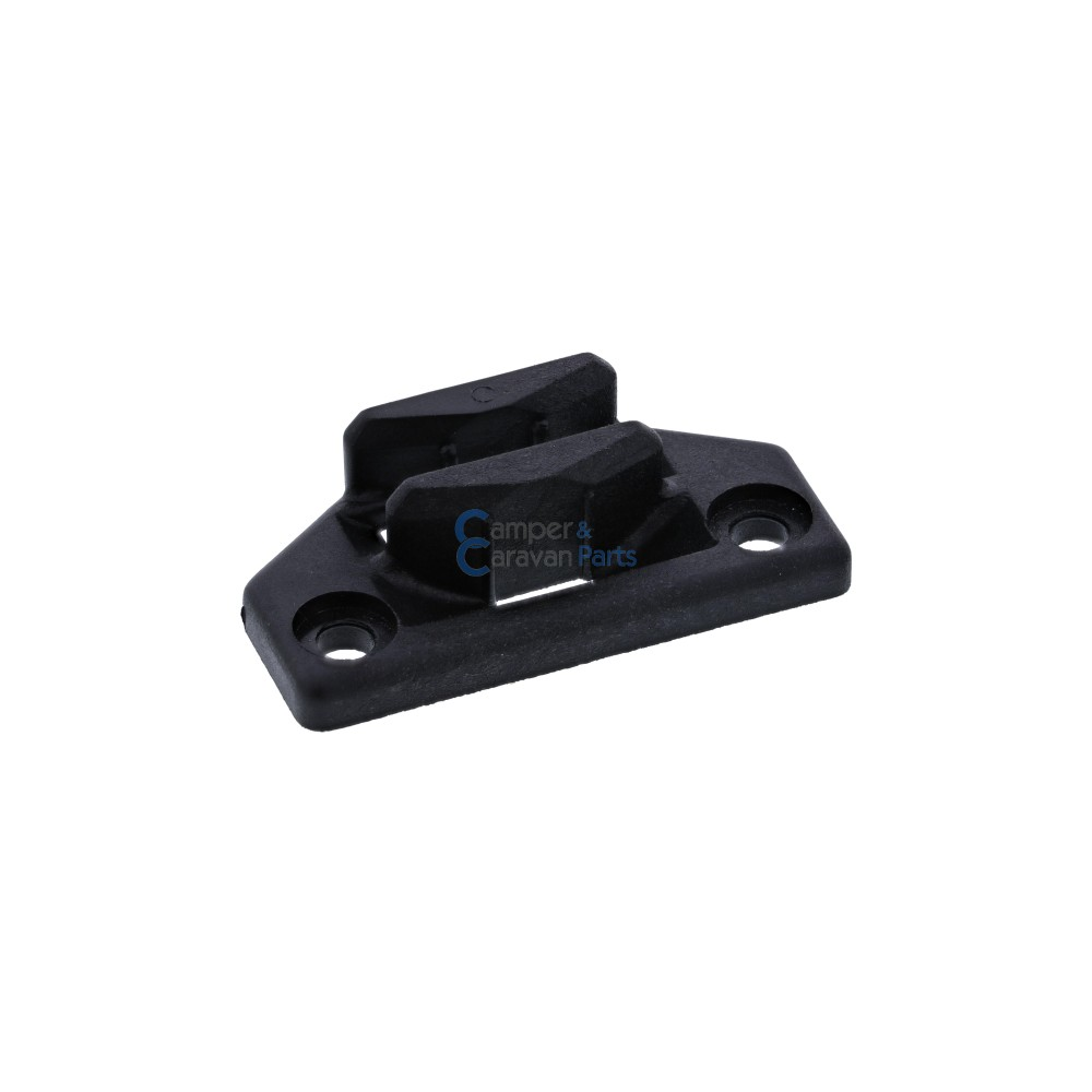 Polyplastic slotplaatje zwart - 12,4 mm - 50 mm - Ø 37,5 mm -