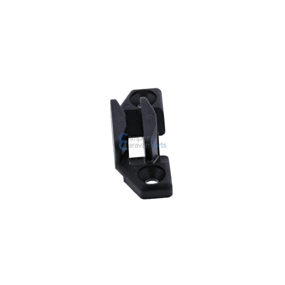 Polyplastic slotplaatje zwart - 12,4 mm - 50 mm - Ø 37,4 mm -