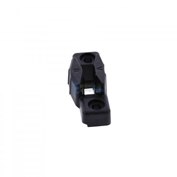 Polyplastic slotplaatje polyfix zwart ''Type 4''