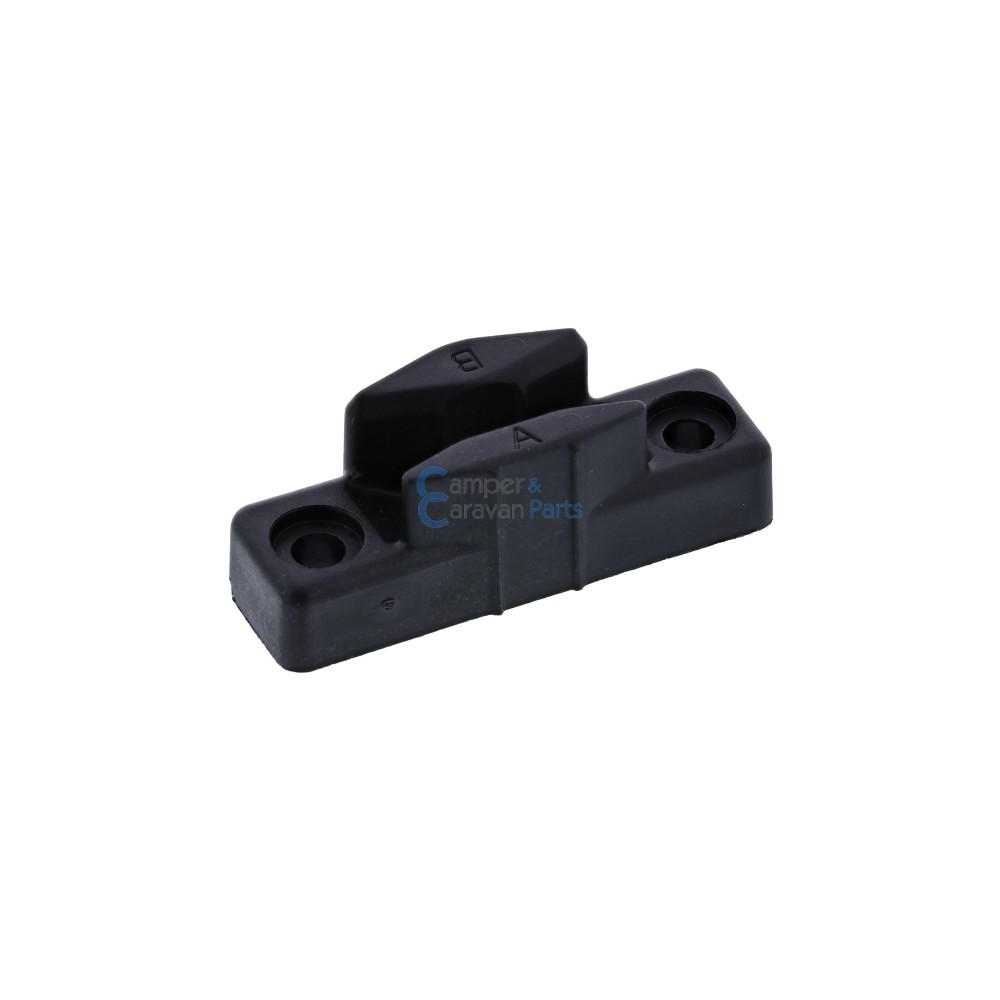 Polyplastic slotplaatje polyfix zwart - 17,5 mm - 50 mm - Ø 37,5 mm -