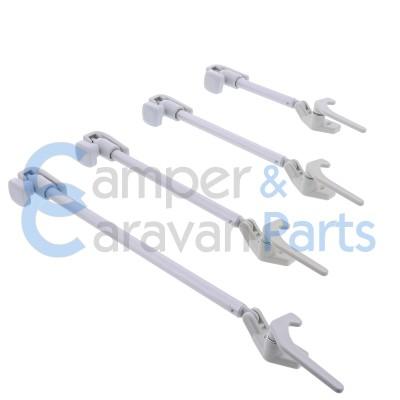 Polyplastic 300 Serie - schroef | Raamuitzetters buis grijs incl. grendel