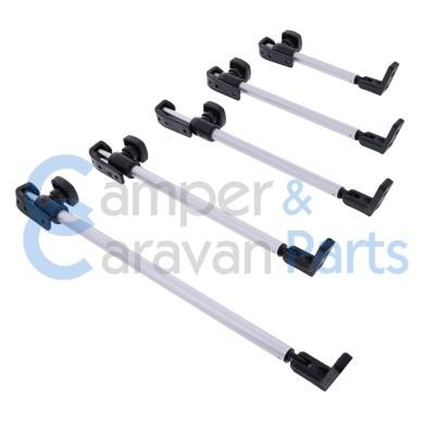 Polyplastic 300 Serie - schroef | Raamuitzetters buis zwart incl. montagevoet -