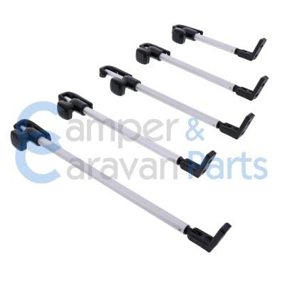 Polyplastic 300 Serie - schroef | Raamuitzetters buis zwart incl. montagevoet