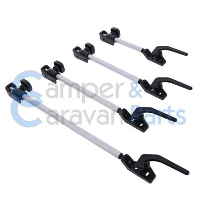 Polyplastic 300 Serie - schroef | Raamuitzetters buis zwart incl. grendel -
