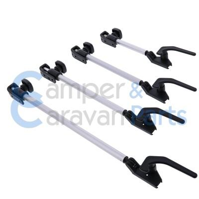 Polyplastic 400 Serie - polyfix | Raamuitzetters buis zwart incl. grendel -