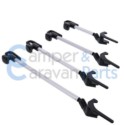 Polyplastic 400 Serie - polyfix | Raamuitzetters buis zwart incl. grendel