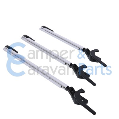 Polyplastic 300 Serie - schroef | Raamuitzetters klik zwart incl. grendel