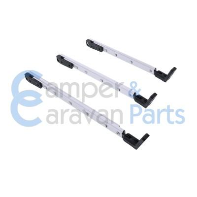 Polyplastic 300 Serie - schroef | Raamuitzetters klik zwart incl. montagevoet -
