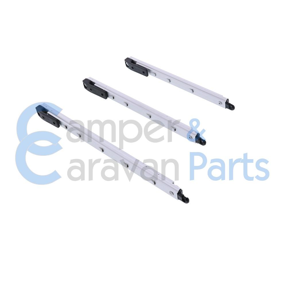 Polyplastic 300/400 Serie | Raamuitzetters klik zwart excl. grendel/montagevoet -