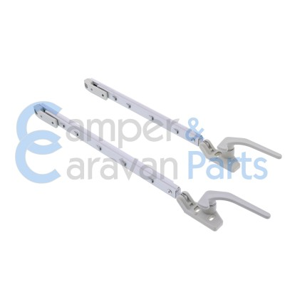 Polyplastic 300 Serie - schroef | Raamuitzetters klik grijs incl. grendel -