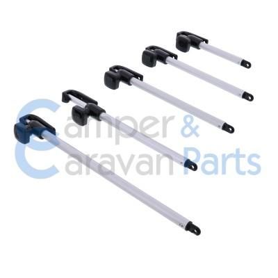 Polyplastic 100 t/m 400 Serie | Raamuitzetters buis zwart excl. grendel/montagevoet -