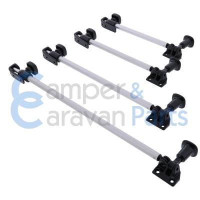 Polyplastic 200 Serie - schroef | Raamuitzetters buis zwart incl. grendel -