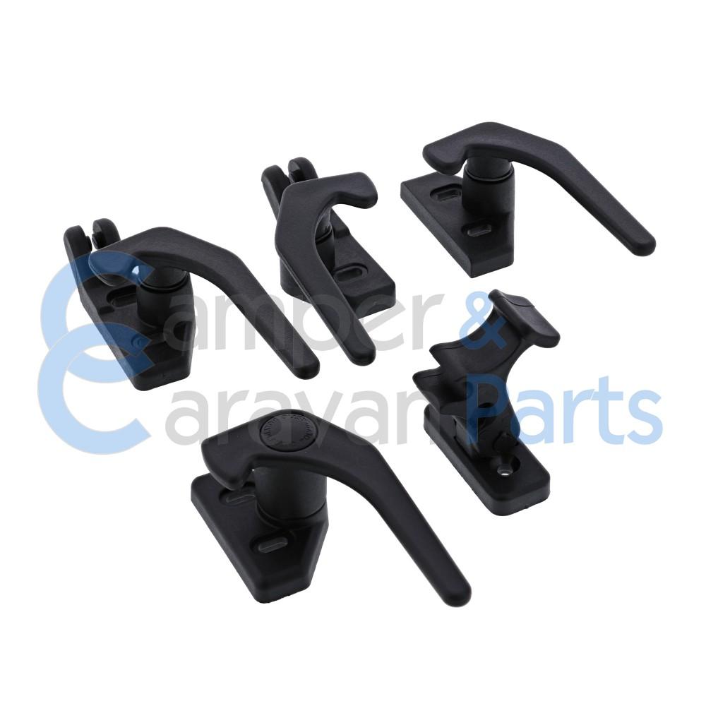 Polyplastic 300 Serie | Raamgrendels schroef zwart -