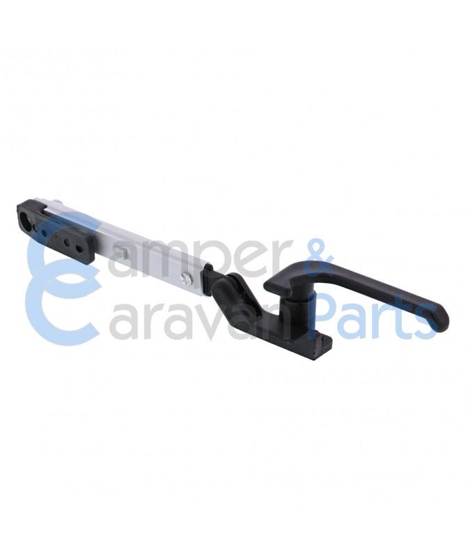 Plastoform 100 Serie   Raamuitzetters klik zwart incl. grendel -
