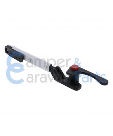 Plastoform 200 Serie | Raamuitzetters klik zwart incl. grendel met rode drukknop