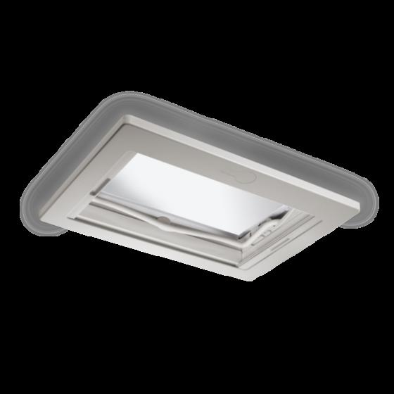 Dometic Midi Heki Style - Dakraam wit met beugel en met geforceerde ventilatie