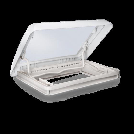 Dometic Midi Heki Style - Dakraam wit met slinger en met geforceerde ventilatie