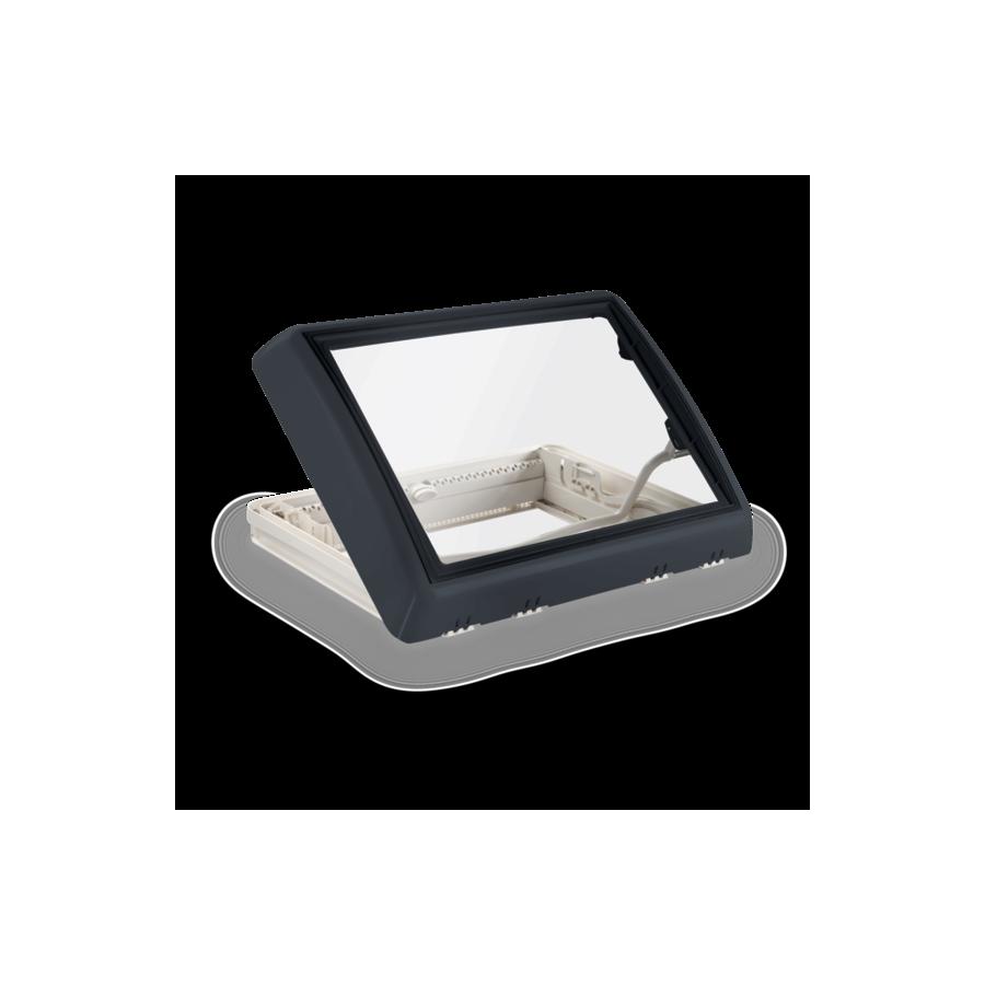 Dometic Midi Heki Style - Dakraam grijs met beugel en met geforceerde ventilatie -