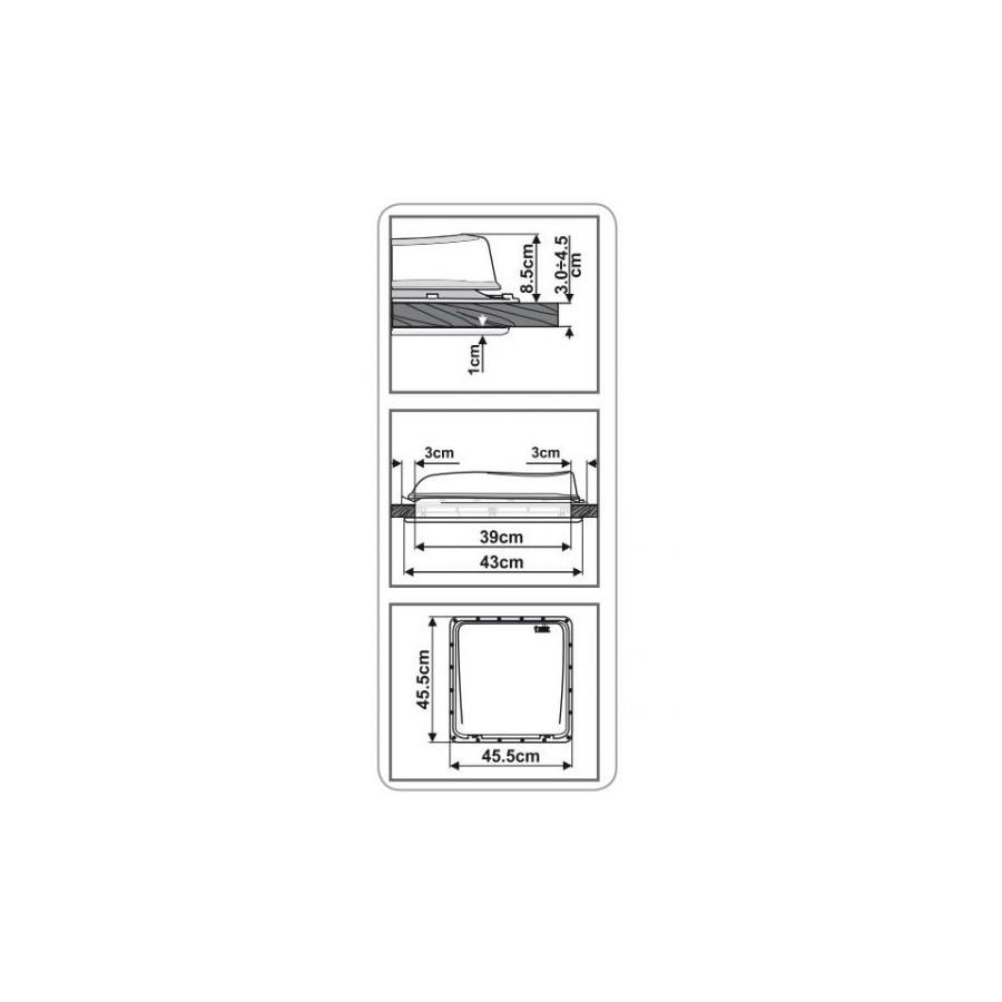 Fiamma Turbo-Vent Premium wit -