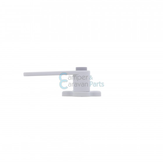 Plastoform raamgrendel links grijs met drukknop