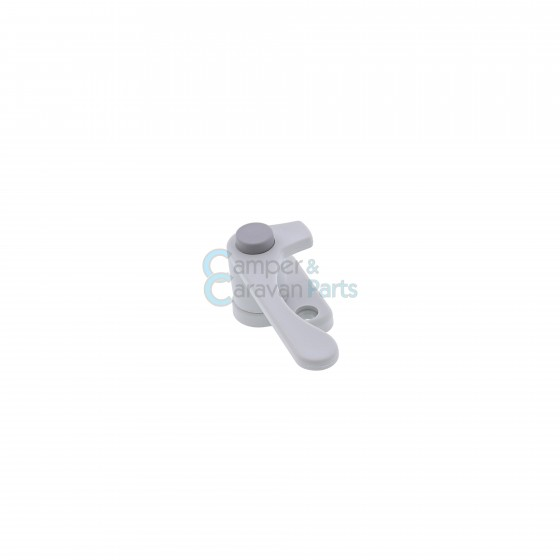 Plastoform raamgrendel rechts grijs met drukknop -