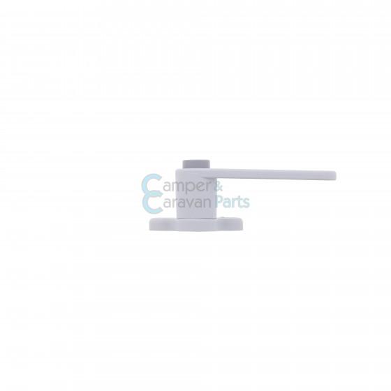 Plastoform raamgrendel rechts grijs met drukknop